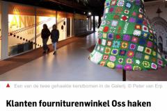Gehaakte kerstbomen in de Galerij Oss 2019 - BD